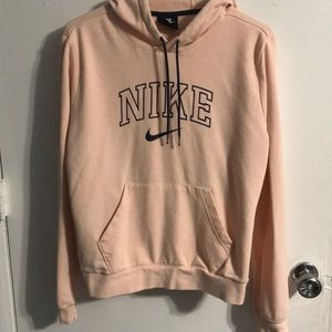 Light Pink and Navy Nike Sweatshirt